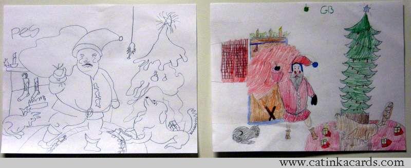 Kids Santa art