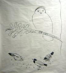 snowy owl art