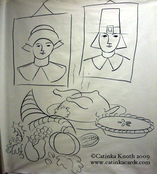 Thanksgiving Day drawing by Catinka Knoth