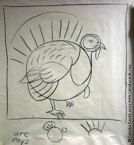 turkey drawing by Catinka Knoth