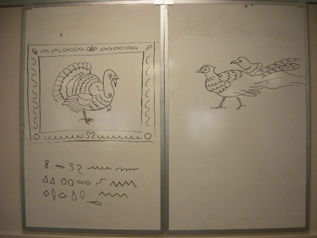 Turkey & pheasants demo drawings