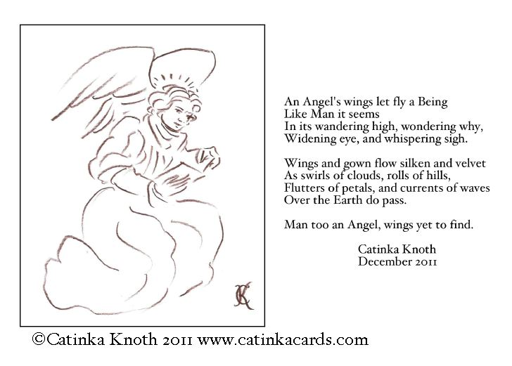 Christmas Angel and Poem Card 2011 by Catinka Knoth
